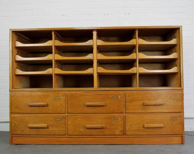 Oak Department Store Cabinet Circa 1950s