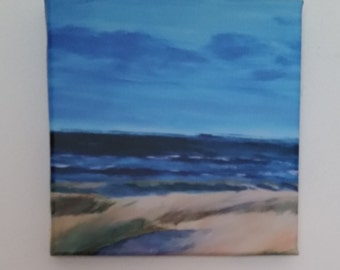 Canvas print of my original painting 'Beach of Terschelling'