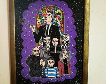 Creepy Family Frame. The Addams Family Tribute