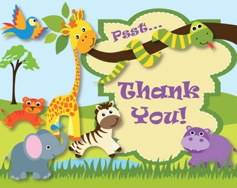 Kids Birthday Thank You Card - Printable Instant Download