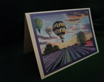 Up Up and Away!  Greetings Card A5