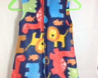 Fleece Baby Sleep Sack- Animals- 0-12 Months