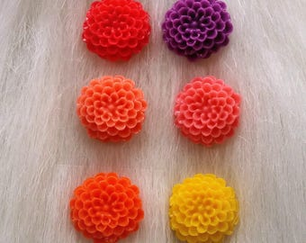 dahlia flower post earrings - limited edition colours