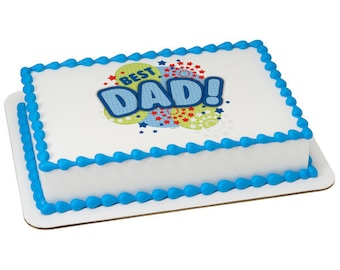 Best Dad Edible Cake Topper