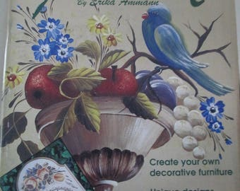 Folk Art Painting book by Erika Ammann 66 pages used book