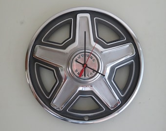 1969 Ford Mustang Hubcap Clock - Item 2622