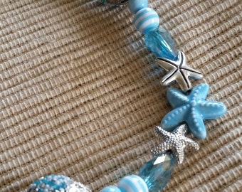 Powder Blue Starfish Necklace