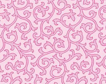 Half Yard Daisy Mae - Joy in Petal Pink - Cotton Quilt Fabric - by E. Vive for Benartex Fabrics (W816)