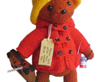 PADDINGTON Bear PDF Email Knit PATTERN