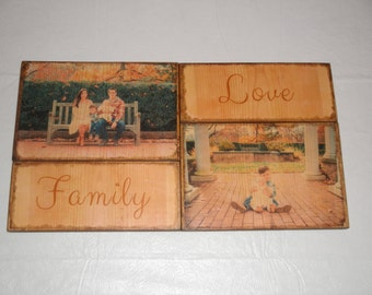 Custom photo transfer on wood, Picture display, Valentine's day Gift, 5th anniversary, Wood anniversary, pictures on wood, picture frame