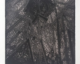 Hand Pulled Architectural Fine Art Etching - Unframed