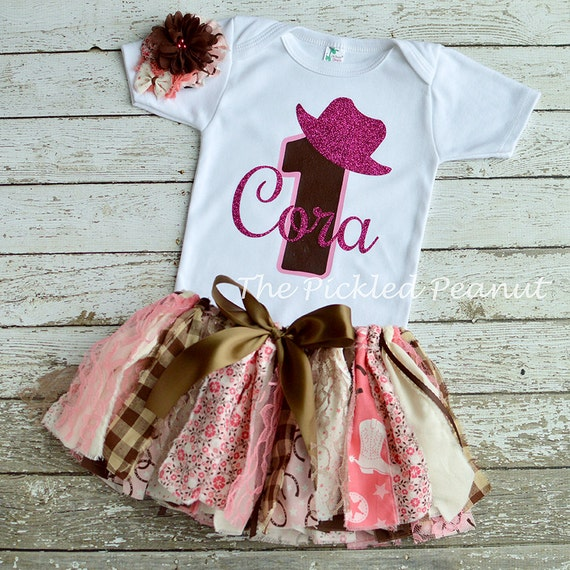 Pink Cowgirl Birthday Outfit Cowgirl Baby Tutu Pink Cowgirl