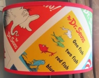 Dr. Seuss Book Cover Fabric Lamp Shade
