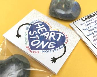 Labradorite Heart Stone
