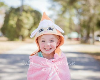 Lamb Hooded Towel- Hooded Bath Towel For Baby- Toddler Hooded Beach Towel- Easter Basket Stuffers- Custom Hooded Towels For Kids