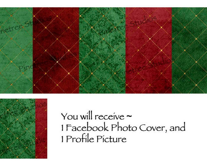 Christmas Lattice ~ Facebook Blank Cover Photo and Profile Picture