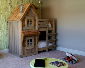 The Rustic Cabin Bunk Bed by Imagine That Playhouses!