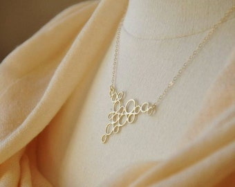 Modern Bubbles Necklace - Dainty Gold Necklace, Circles Necklace, Modern Necklace, Geometric Necklace, Abstract Jewelry, Minimalistic