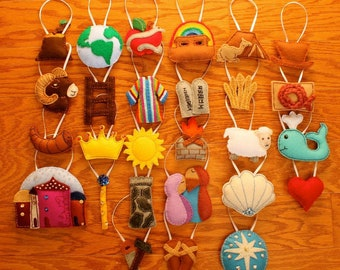 Jesse Tree Ornaments -- RESERVED for Sandy D.