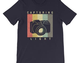 Photographer Shirt / Photography Shirt / Camera Shirt / Vintage Capturing Light / Photography Lover / Loves Photography / Camera Lens / DSLR