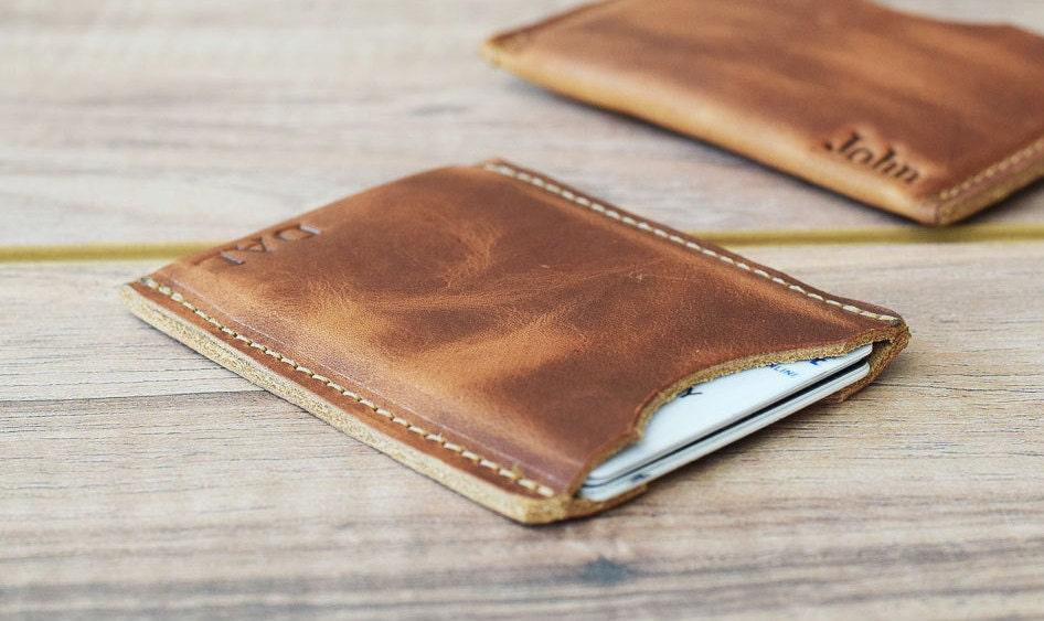 Ideal Minimalist card Sleeve leather card sleeve slim wallet JQ19