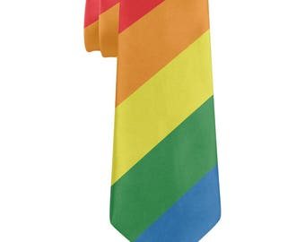 Rainbow Gay Pride Flag All Over Neck Tie