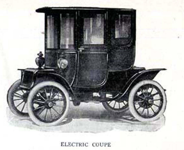 Elektro-Auto Coupe Automobile Edwardian Oldtimer 1912 antike