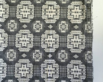 Grey and white tribal receiving blanket