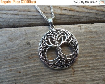 ON SALE Celtic tree of life necklace handmade in sterling silver