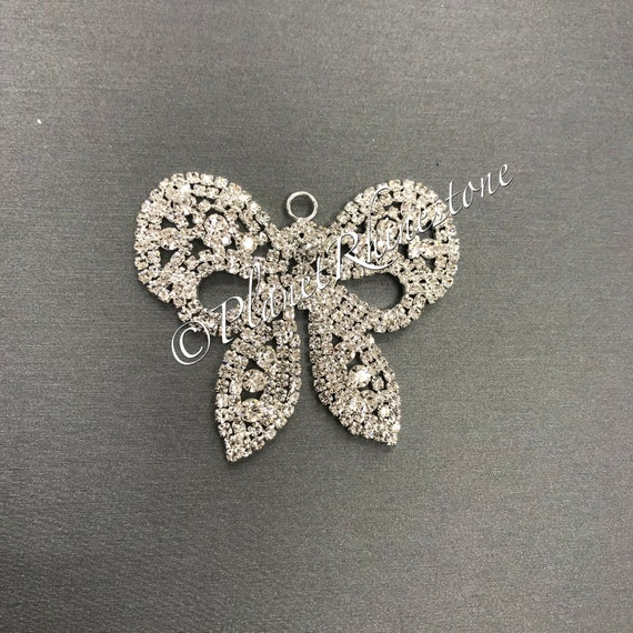 Small Rhinestone Bow Applique #AS-12