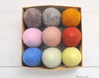 Easter Egg Set, 10 Colour Easter Eggs, Egg Photography Prop, Felted Newborn Prop, Baby Photography Prop, Felted Egg Toy