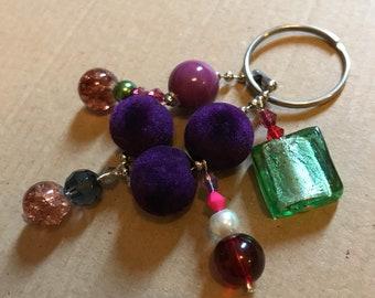 Beaded Key Ring Charm