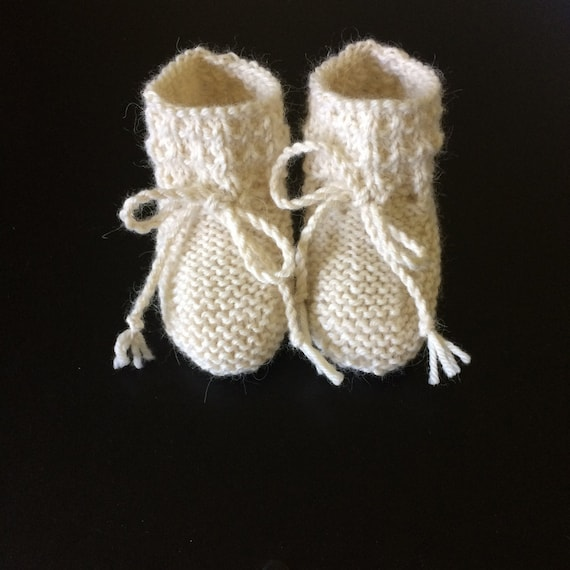 Baby Alpaca Willow Booties in Cream  - Made to Order