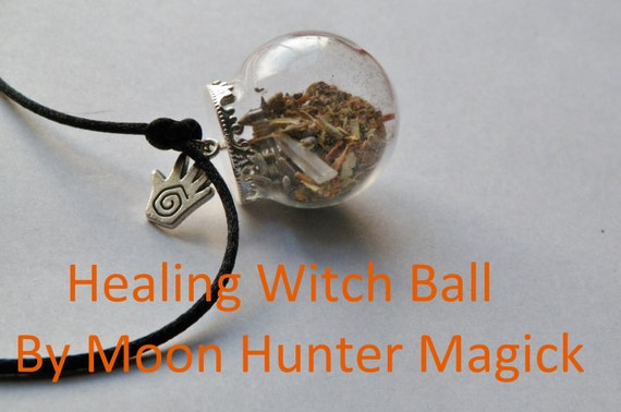 Healing Charm Mini Witch Ball Witch Bottle Pagan Wicca Reiki