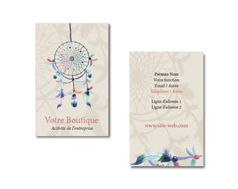 Card dream catcher, jewelry, card for small business professional business card