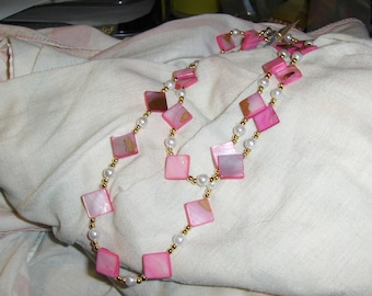 """Hot Pink """"Mother's Diamonds"""" necklace"""