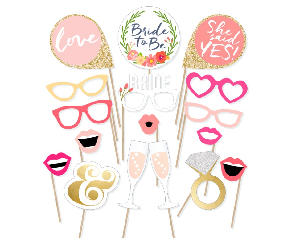 Printable bridal shower photo booth props bride photobooth zoom solutioingenieria Image collections