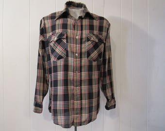 Vintage shirt, Levis shirt, cowboy shirt, 1970s shirt, vintage Levis shirt, vintage clothing, medium