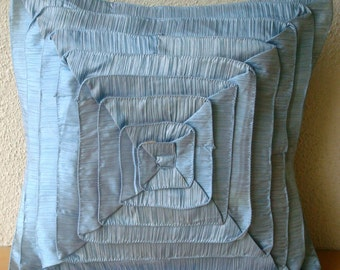 Vintage Sky - Pillow Sham Covers - 24x24 Inches Crushed Silk Pillow Sham Cover with Frills