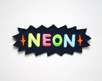 Neon Iron On Patches