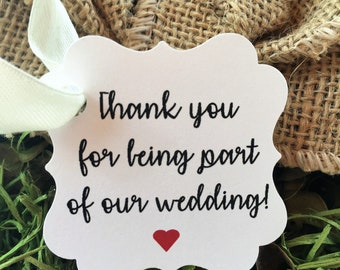 Wedding Thank you Gift Tags:  Wedding Tags | Thank you Tags | Gift Tags | Wedding Favor Tags | Personalized Tags|Wedding Thank You Tags