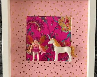 FRAME PLAYMOBIL fairy Tina and her Unicorn