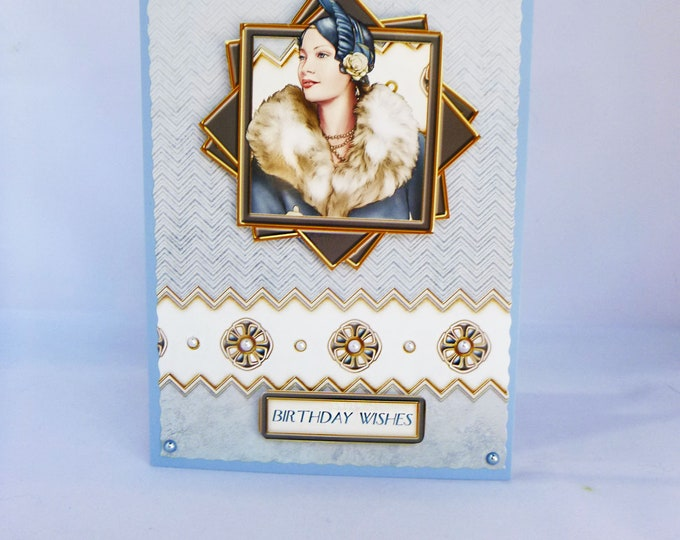Art Deco Birthday Card, 1920's Style Card, Birthday Wishes, Special Birthday, Special Day, Vintage Card, Especially For You,