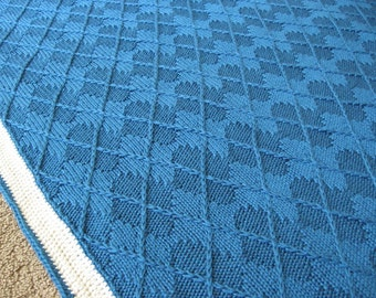 3-D Argyle Blanket knitting pattern (pdf digital download)