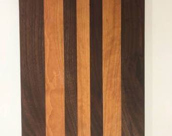 Walnut and Cherry Handmade Cutting Board