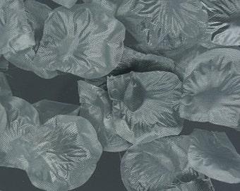 300 piece silk rose petals SILVER