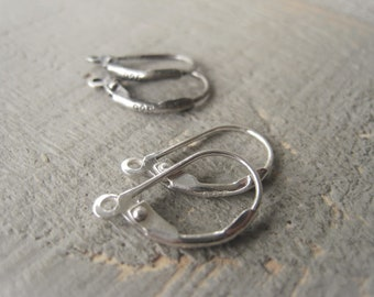 Sterling Silver Lever Back Ear Wire Silver Earrings  Item No. 0965