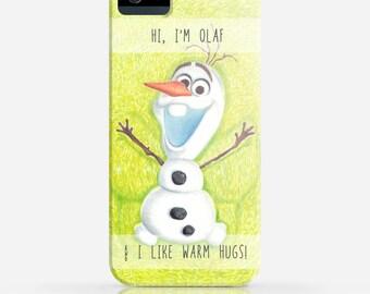 Frozen Olaf iPhone 6 Case Disney iPhone 5 Case iPhone 5c Case  iPhone 4 Case Samsung Galaxy s5 iPhone Hard Plastic Case