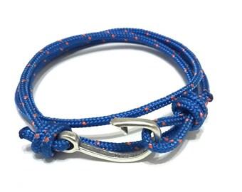 Wrap  Anchor Bracelet - Fish Hook bracelet - Men's bracelet - Gift for him - Men's gift - Gift for him- Custom bracelet - Valentines Day
