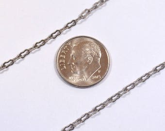 Small Peanut Chain - Antique Silver - CH20-AS - Choose Your Length
